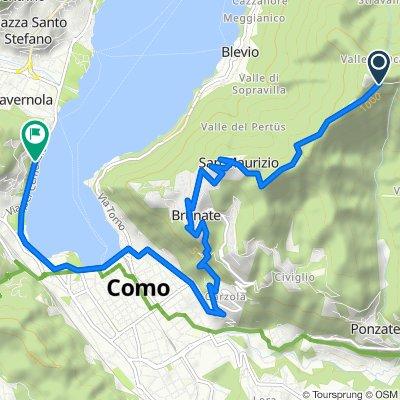 Restful route in Como