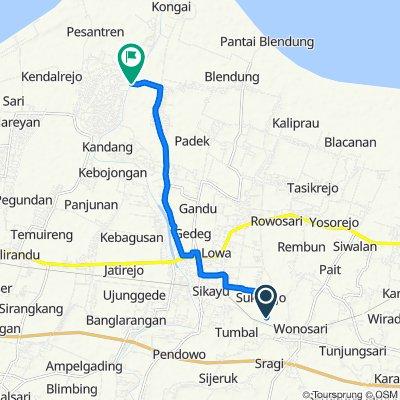Jalan Sukorejo Tumbal to Unnamed Road, Kecamatan Ulujami