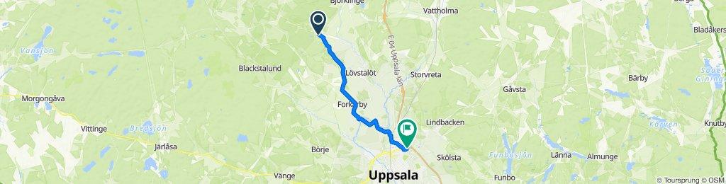 Skuttunge Djurhalsen, Björklinge to Takpannegatan 20, Uppsala