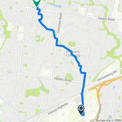225 Hoppers Lane, Werribee to 3 Harrington Avenue, Tarneit
