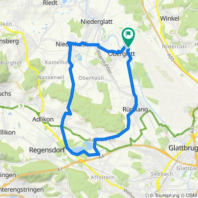 Breitenfussweg, Oberglatt ZH nach Breitenfussweg, Oberglatt ZH