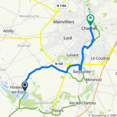 De 4 Place de l'Église, Fontenay-sur-Eure à 1 Rue des Changes, Chartres