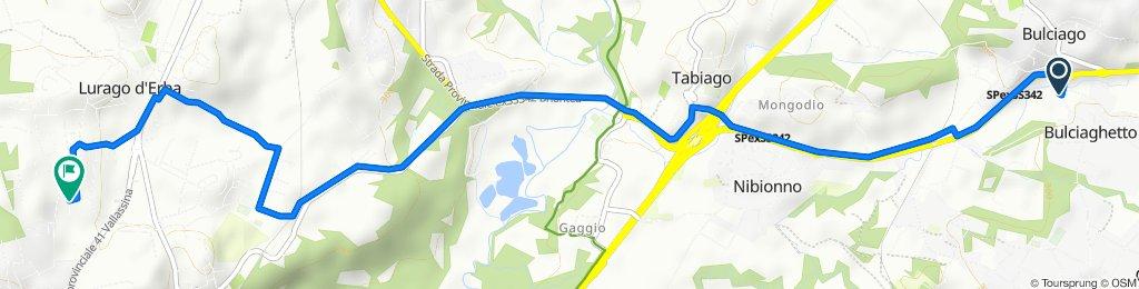 Da Via Provinciale 4, Bulciago a Via Umberto Maddalena 20, Lurago d'Erba