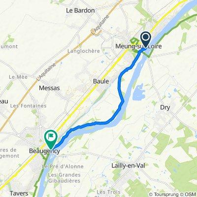 Steady ride in Beaugency