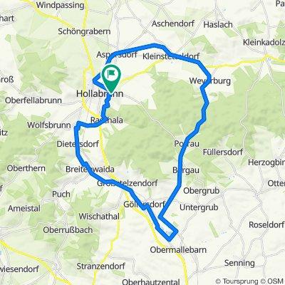 Hollabrunn - Schönborn - Weyerburg - Hollabrunn 43km