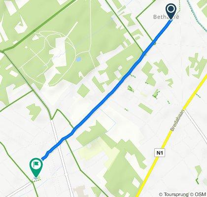 Restful route in Brasschaat