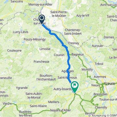 Itinéraire modéré en Souvigny