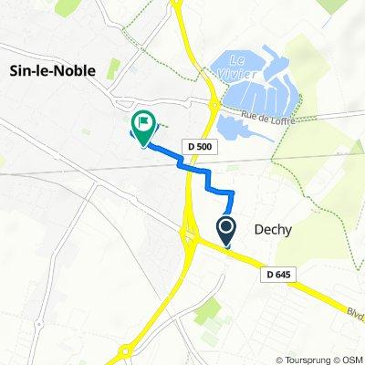 Itinéraire modéré en Dechy