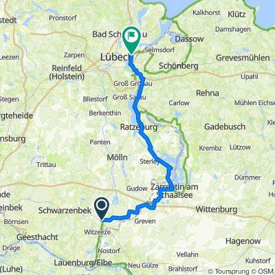 Tag 2 Büchen - Lübeck/Travermünde
