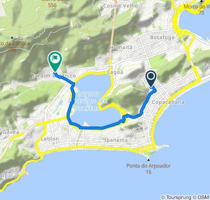Restful route in Rio de Janeiro