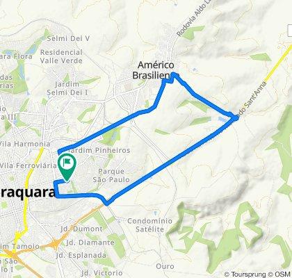 Moderate route in Araraquara