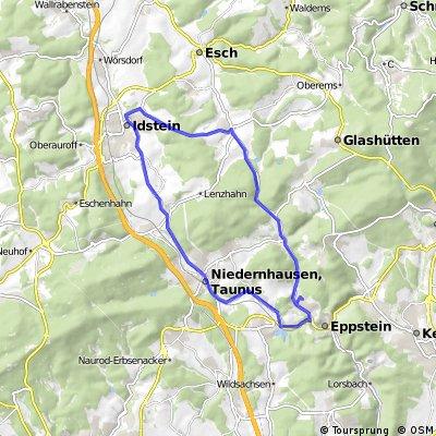 Vockenhausen-Niederjosbach-Idstein-Heftrich-Vockenhausen Lindenweg start