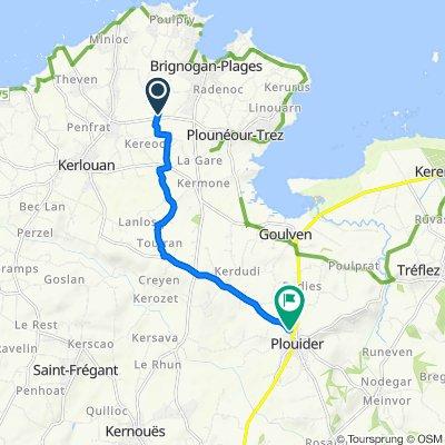 De 4P Keréoc Mentoul, Plounéour-Trez à 1–2 Lotissement Maurice le Bras, Plouider