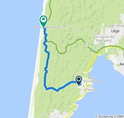 Itinéraire vers D106e3, Lège-Cap-Ferret
