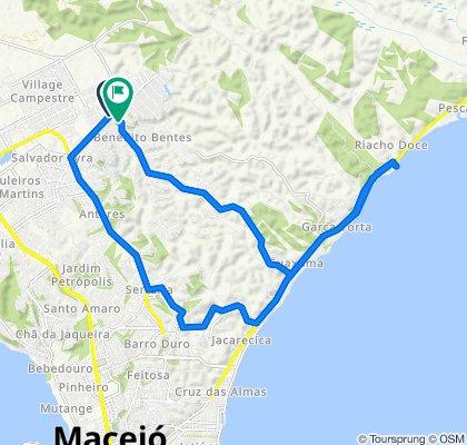 De Avenida Cachoeira do Meirim 51 a Rua Boa Vista 9