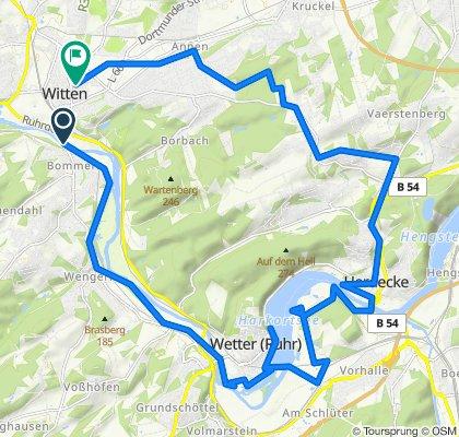 Steady ride in Witten