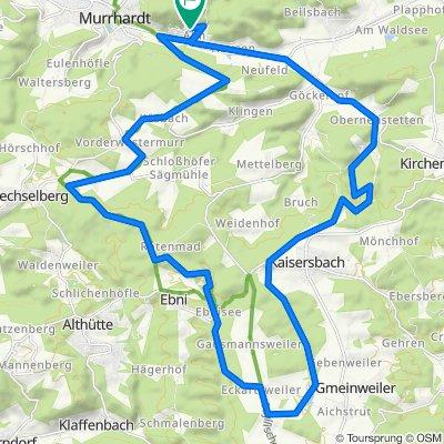 Alm-Kaisersbach-Aichstrutsee-Ebnisee-Sechselberg-Alm