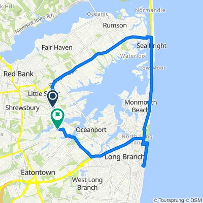 Willow Drive 273, Little Silver to Russel Avenue 33, Oceanport