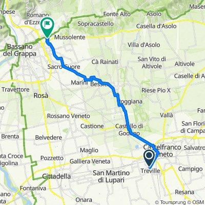 Da Via Adamello 5, Castelfranco Veneto a Via Romita 80, San Giacomo-Fellette