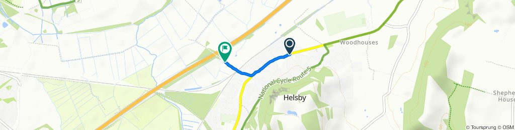 High-speed route in Frodsham