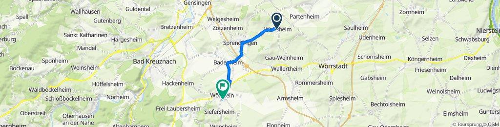Gau-Weinheimer Straße 1, Wolfsheim nach Dekan-Horst-Straße 2–11, Wöllstein