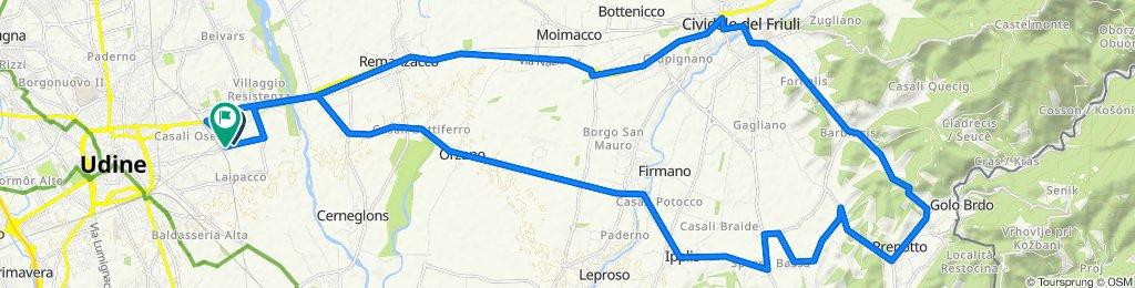 2. Udine - Cividale - Prepotto - Udine