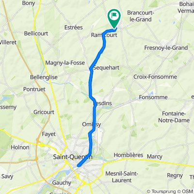 Steady ride in Montbrehain