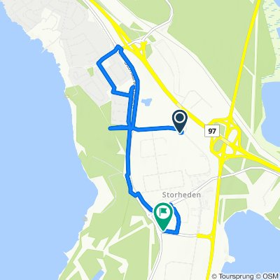 Relaxed route in Luleå