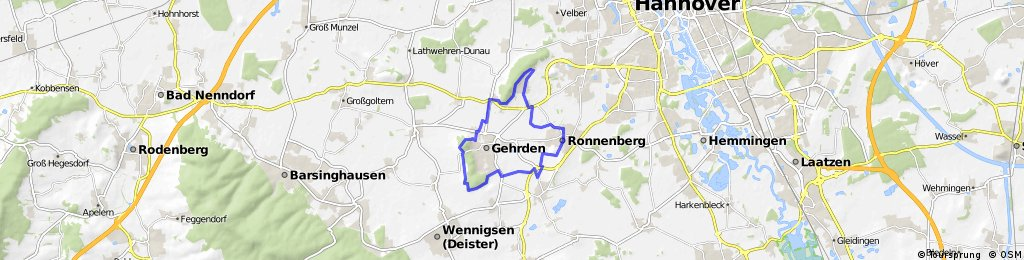 Region Hannover, Grüner Ring, Gehrdener Schleife