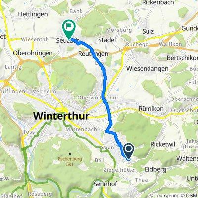 Sonnenbühlstrasse 25, Winterthur nach Birchstrasse 14, Seuzach