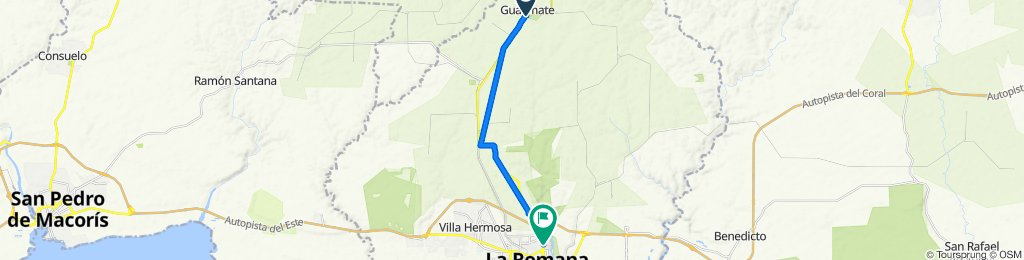 De Guaymate a Carretera Romana-Higueral, La Romana