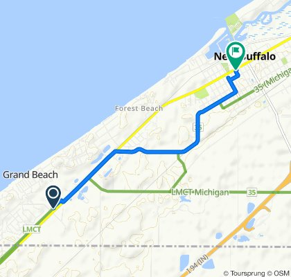 Relaxed route in New Buffalo