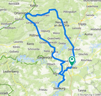 2020-07-12 Hunderter SCZ-Neustadt/O.-Wolfersdorf-Hummelshain-Pößneck-Schöndorf-Möschlitz-Radweg Saalburg-SCZ