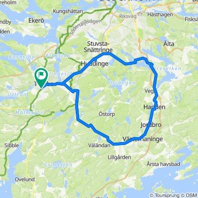Bergfotsvägen 17, Tumba to Bergfotsvägen 17, Tumba