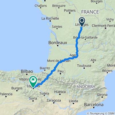 Limoges-Agen-Pirineos-Logroño