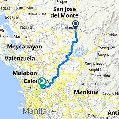 Ilang Ilang 580, Caloocan to Matutum 67, Quezon City
