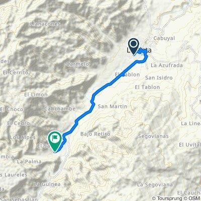 De Carrera 7a Sur 281, La Plata a vereda El Salado