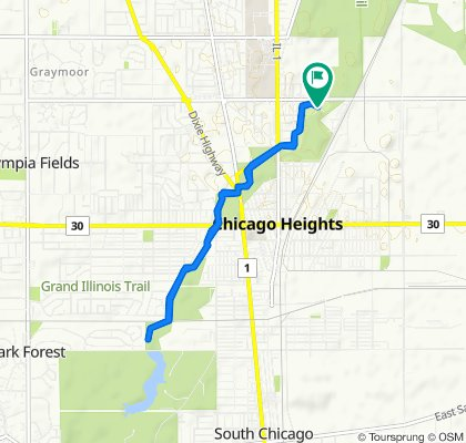 Restful route in Chicago Heights