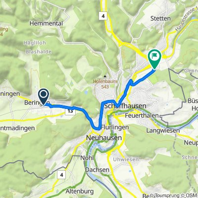 14 30, Beringen nach Ebnatstrasse 145, Schaffhausen