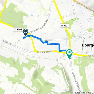 Relaxed route in Bourgoin-Jallieu