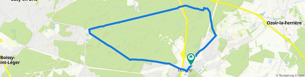 Easy ride in Lésigny (13km)