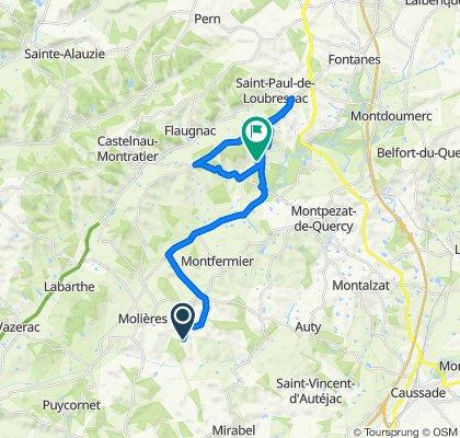 Route van Chemin d'Arnaud, Molières