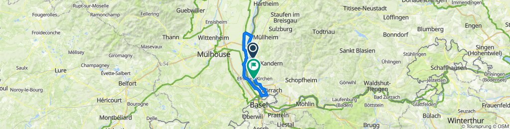 Fahrt von Bad Bellingen an beiden Rhein-Ufern