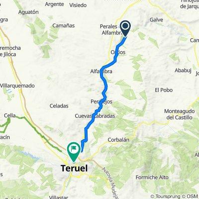 De Calle el Puente 1, Villalba Alta a Calle Agustin Alegre 255, Teruel