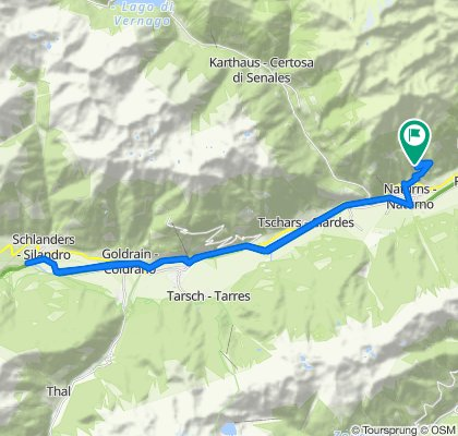 High-speed route in Naturno