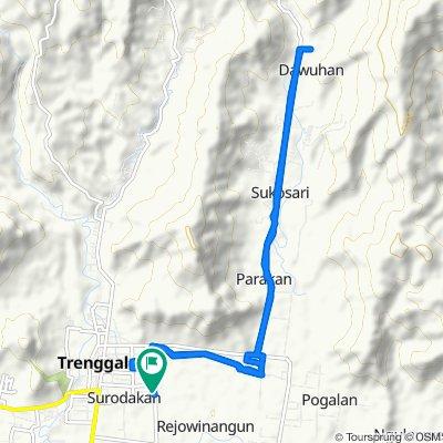 Jalan Ki Mangun Sarkoro 74b, Kecamatan Trenggalek to Jalan Ki Mangun Sarkoro 35, Kecamatan Trenggalek