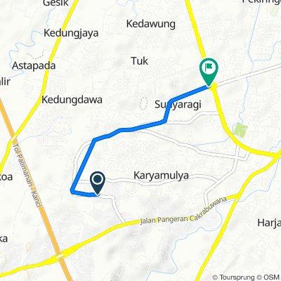 Jalan Saladara 70, Kecamatan Kesambi to Jalan Terusan Pemuda 1a, Kecamatan Kesambi