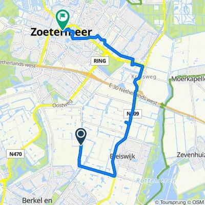 Landscheiding Noord, Bleiswijk naar Luxemburglaan 1, Zoetermeer