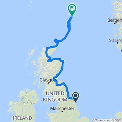 Route 1 part 3. Filey to John OGroats