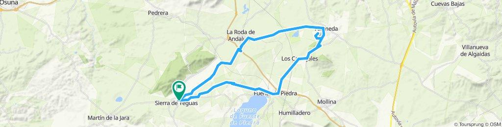 """Sierra de Yeguas - Fuente de Piedra - Subida a la Sierra de """"La Camorra"""" - Alameda - Roda de Andalucía - Navahermosa - Sierra de Yeguas"""